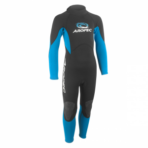 Fullsuit for Kids Aropec black/turquoise in the group All articles / Wetsuits at Seapro Divers Scandinavia AB  (955-6r)